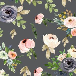 Grey Floral Blooms