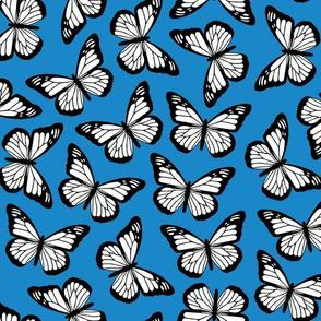 butterflies - royal blue