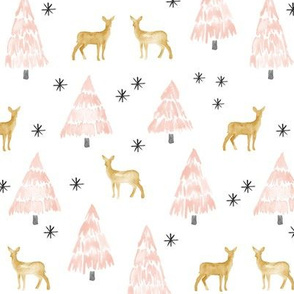 holiday deer - blush