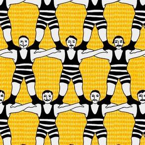 Circus Strongmen Wall
