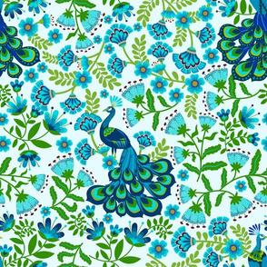 Peacock Flower Garden