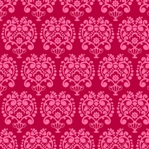 CAMELIA ROSE RED SIMPLE DAMASK
