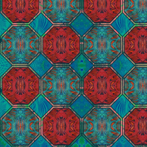 eights_and_squers_red_and__green_contrast