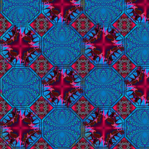 eights_and_squers_dark_red_andblue2_tones