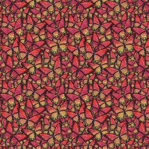butterfly kaleidoscope - red cherubs