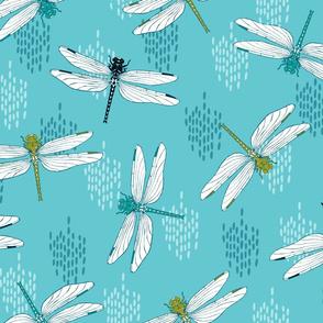 Dragonflies - Teal