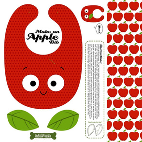 Make a Baby Toddler Bib - Apple