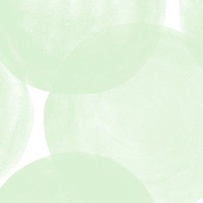 Huge Watercolor Dots M+M Mint by Friztin