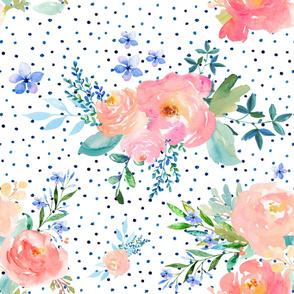 "36"" Floral Sweet / Variation 2 / Polka Dots"