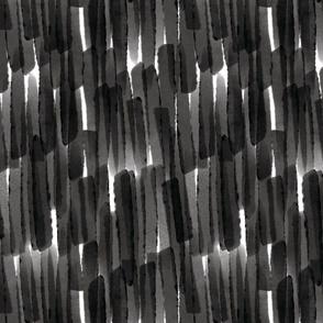 Watercolor Strokes // Black