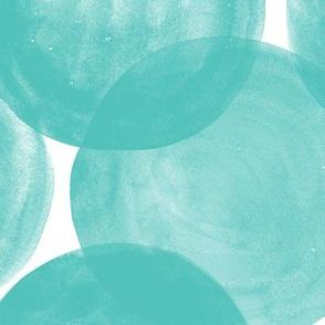Huge Watercolor Dots M+M Aqua by Friztin