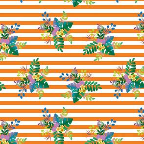 Rainforest Vivid Orange Stripe