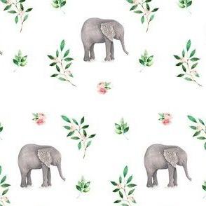 Floral Elephant / 2017 Print