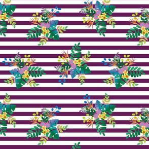 Rainforest Verdant Purple Stripe