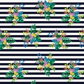 Rainforest Lush Midnight Stripe