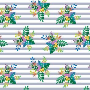 Rainforest Lush Periwinkle Stripe