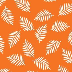 Rainforest Vibrant Orange Palm Leaves