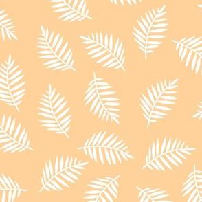 Rainforest Vibrant Peach Palm Leaves