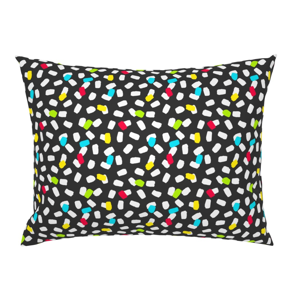 Campine Pillow Sham featuring Brushstroke Sprinkles by thewellingtonboot