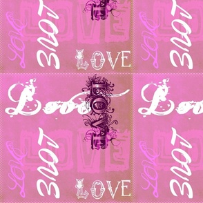 Love on pink