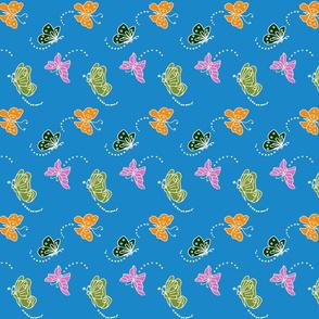 Flutterbies On Blue