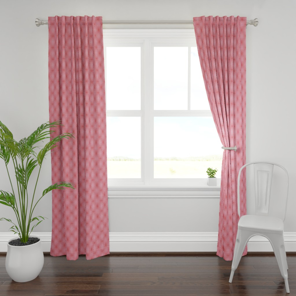 Plymouth Curtain Panel featuring rivet optic in reds by cinneworthington