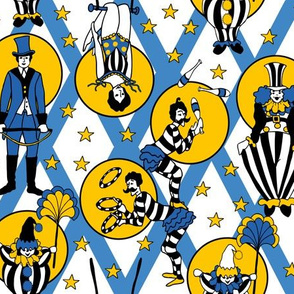 Circus Performers - Blue