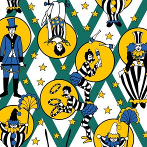 Circus Performers - Green