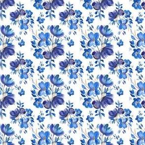 Blue Floral Bouquet - Small
