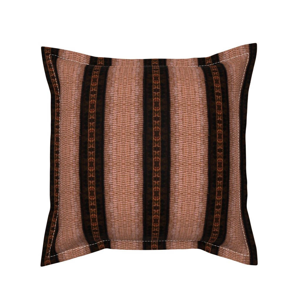 Serama Throw Pillow featuring Leather Straps and Texture  by franbail