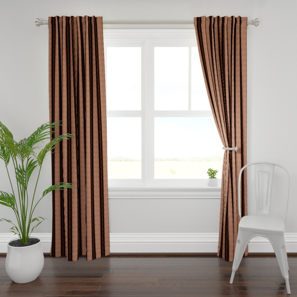 Plymouth Curtain Panel featuring Leather Straps and Texture  by franbail