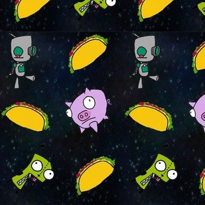Pig Taco in Space
