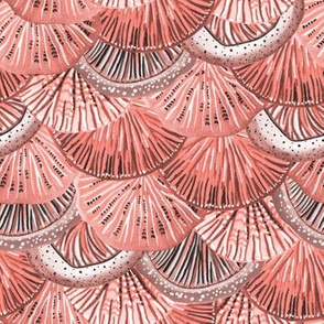 Mermaid Tail Coral Blush Pink by Angel Gerardo