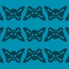 Butterfly Skulls - Teal