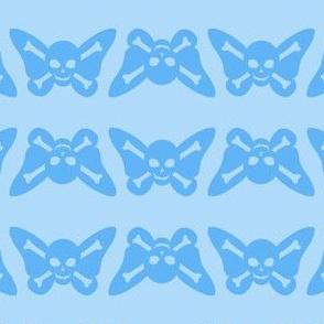 Butterfly Skulls - Baby Blue