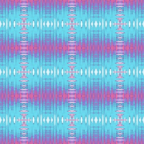 Spiky Pink and Blue Grid Upholstery Fabric