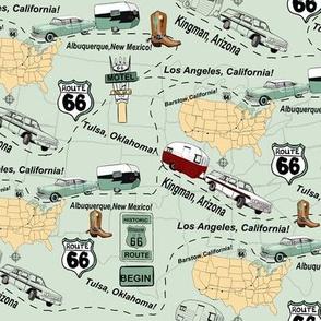Map Route 66 USA by Salzanos