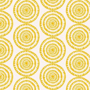 Abstract Yellow Circle Design