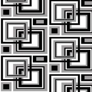 Black Gray Square Geometric