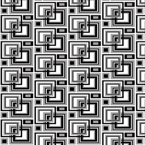 Abstract Black Gray Grey Square Geometric Pattern