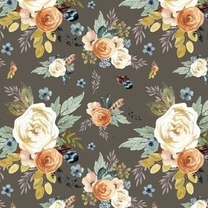 "4"" Western Autumn / More Florals / Taupe"