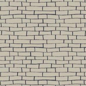 Brick Road - Beige and Black