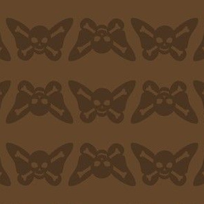 Butterfly Skulls - Brown