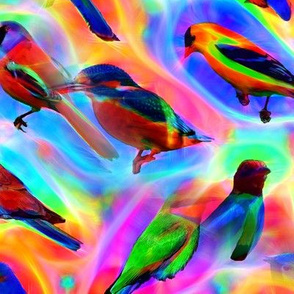 Glowing Birds 2