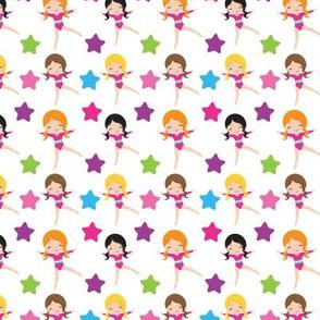 Star Gymnasts fabric / cute girl gymnast fabric