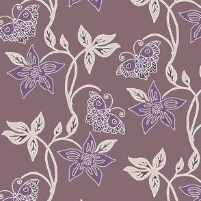 Butterflies & Flowers Virtual Batik_sunset_WARM_TAUPE