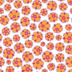 smallFlowers orange/pink