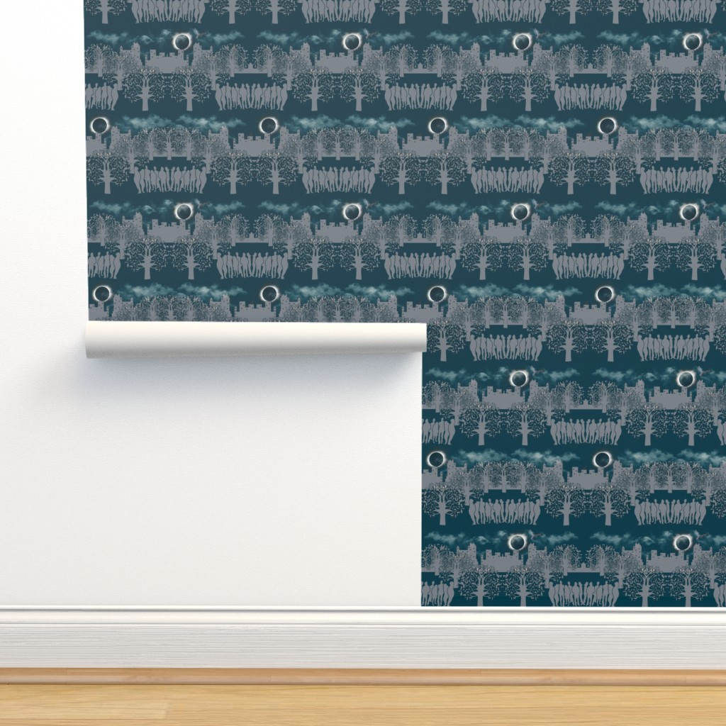 Isobar Durable Wallpaper featuring Under_the_Solar_Eclipse by artonfabric