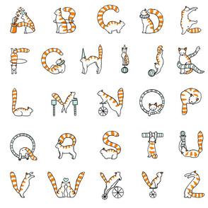 Cat circus alphabet large