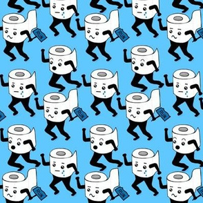2020 Toilet Paper Crisis / Run for your lives Blue